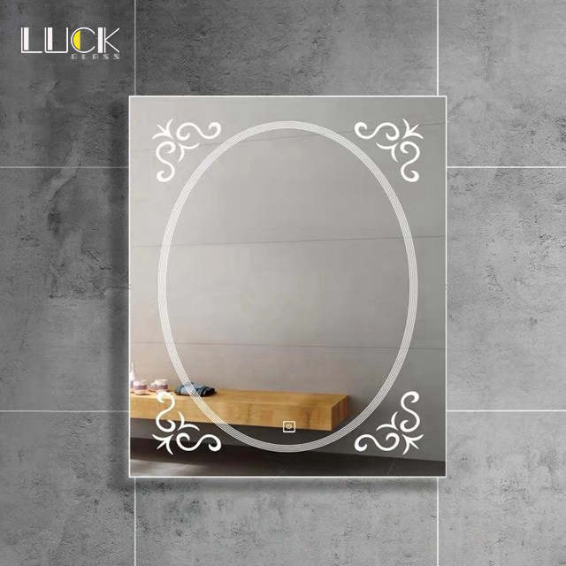 LUCK Illuminated smart backlit mirror lighted bathroom mirrors led mirror round