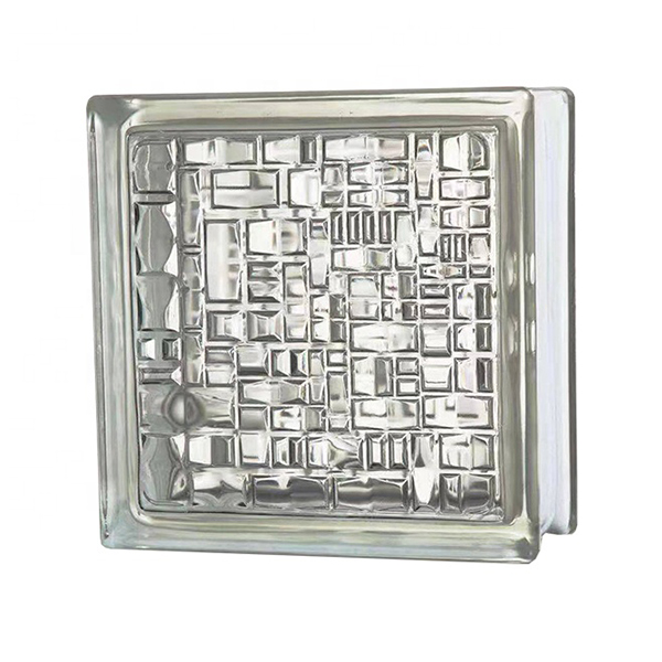 Mosaic glass brick of modern style architecture design