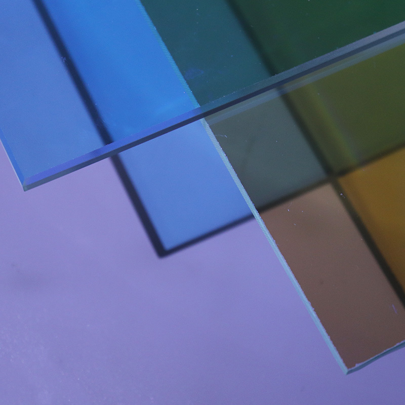 LUCK 3mm 4mm dichroic colored stained mirror glass sheet sheets