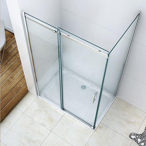 10mm clear tempered toughened shower room glass