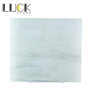 White faux quartz marble-textured modern kitchen countertop glass