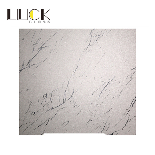 Kitchen cabinet enamelled tempered glass