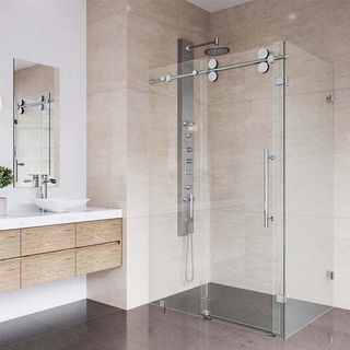 Durable tempered glass sliding bathroom shower enclosure room 2 persons multi-function bath shower cabin